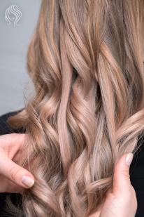 Balayage dažymas tonuojant plaukus