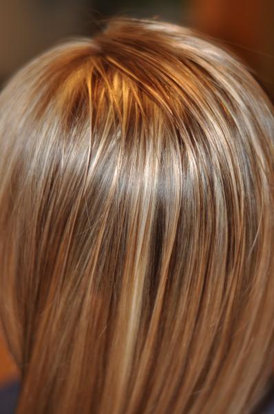Dark ash blonde ombre hair