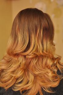 Ombre plauku dažymas